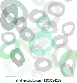 Dark Green vector seamless template with spots. Modern abstract illustration with colorful water drops. Trendy design for wallpaper, fabric makers.