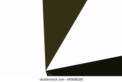 Dark Green vector of small triangles on white background. Illustration of abstract texture of triangles. Pattern design for banner, poster, cover.