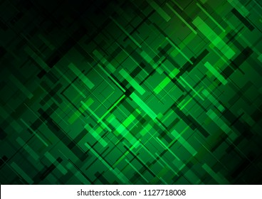 Dark Green vector texture with colored lines. Shining colored illustration with narrow lines. The pattern can be used for websites.
