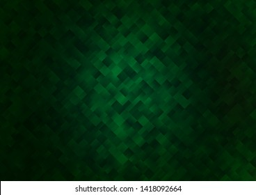 Dark Green vector texture in rectangular style. Glitter abstract illustration with rectangular shapes. Pattern can be used for websites.