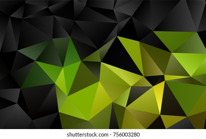 Dark Green, Yellow vector low poly background. Colorful illustration in abstract style with gradient. A new texture for your design.