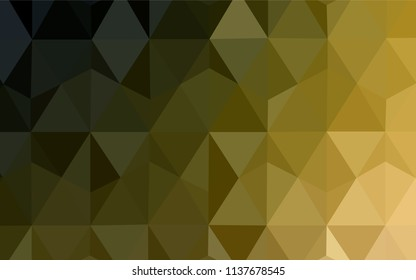 Dark Green, Yellow vector polygonal background. Colorful illustration in polygonal style with gradient. A new texture for your web site.