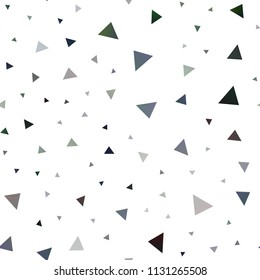 Dark Green, Yellow vector seamless background with triangles. Triangles on abstract background with colorful gradient. Best design for your ad, poster, banner.