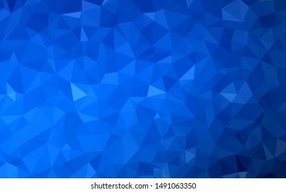 Dark Green, Yellow vector shining triangular background. Colorful illustration in abstract style with triangles. A completely new design for your leaflet.