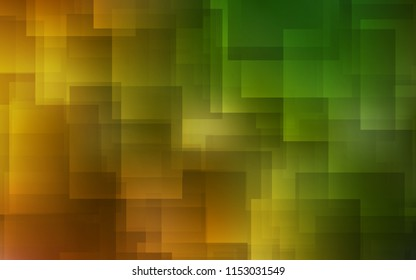 Dark Green, Yellow vector template with repeated sticks. Lines on blurred abstract background with gradient. Smart design for your business advert.