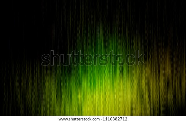 Dark Green, Yellow vector template with lava shapes. Shining illustration, which consist of blurred lines, circles. A completely new memphis design for your business.