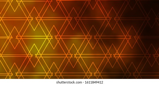 Dark Green, Yellow vector texture with triangular style. Beautiful illustration with triangles in nature style. Pattern for commercials.