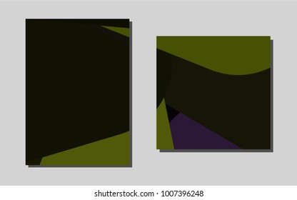 Dark Greenvector banner for websites. Blurred decorative design in abstract style with textbox. The pattern can be used for any ad, booklets.