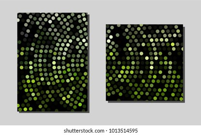 Dark Greenvector banner for websites. Glitter abstract design concept with text box. New design for a poster, banner of your website.