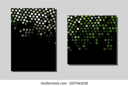 Dark Greenvector brochure for ui, ux design. Glitter abstract design concept with text box. Pattern for beautiful business cards, folders.