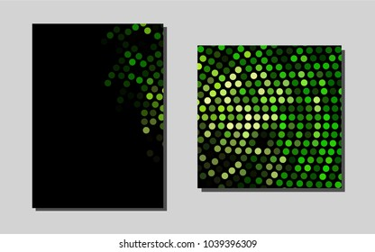 Dark Greenvector template for landing pages. Web interface on abstract background with colorful gradient. Pattern can be used as a template for calendars.