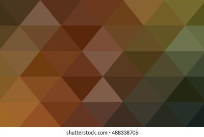 Dark green-yellow abstract polygonal pattern. A vague abstract illustration with gradient. The completely new template can be used for your brand book.