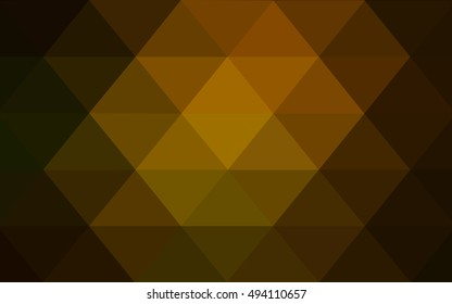 Dark green-yellow abstract polygonal template. Brand-new colored illustration in blurry style with gradient. The completely new template can be used for your brand book.