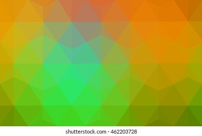 Dark green-yellow polygonal background. Creative illustration in halftone style with gradient. A new texture for your design.
