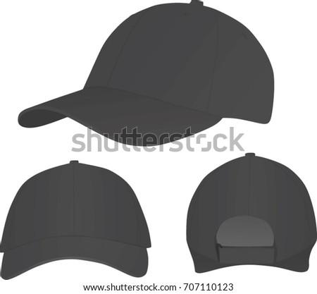 d4fa8325787 Dark Grey Baseball Cap Vector Illustration Stock Vector (Royalty ...