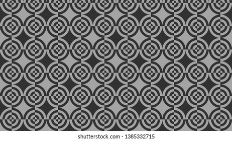 Dark Grey Quarter Circles Background Pattern