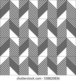 A dark grey zigzag pattern on white background