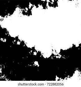 Dark grunge black and white vector. Abstract monochrome background for design and print. Vintage old texture of stains, cracks, chips, abrasions, scratches