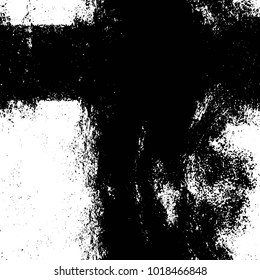 Dark Grunge Chaotic Seamless Pattern. Fantasy Abstract Texture Made Of Ink Paint. Monochrome Worn, Scuffed Background. Textile And Fabric Sample Design. Urban Modern Wallpaper. Spotted Backdrop Image