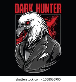 Dark Hunter Red Mafia Illustration