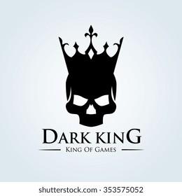 Dark King, Skull and Crown Logo Template