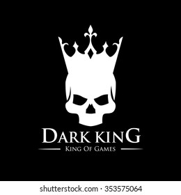 Dark King, Skull and Crown Logo Template