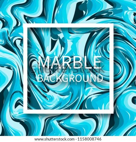 Dark Light Blue Mixed Marble Texture Stock Vector Royalty Free