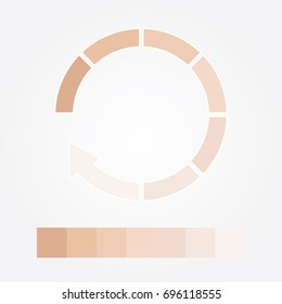 Dark to light chart skin tones vector illustration