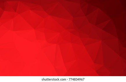 Dark Light Red Color Polygon Background Stock Vector
