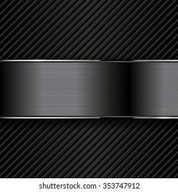 Dark metal backgrounds. Vector illustration