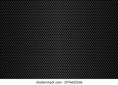 Dark metallic carbon texture. Metal steel grid background.