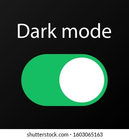 Dark Mode On and Off Switch Button Illustration Vector
