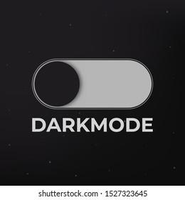 Dark mode on off vector concept . Night mode.