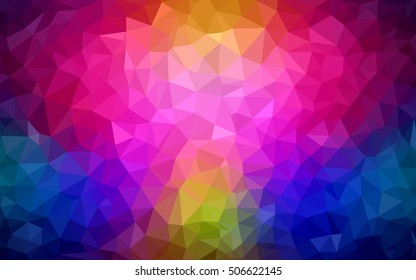 Dark multicolor abstract mosaic template. A vague abstract illustration with gradient. A new texture for your design.