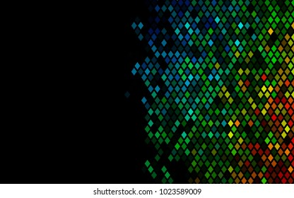 Dark Multicolor, Rainbow vector abstract textured polygonal background. Blurry rectangular design. The pattern with repeating rectangles can be used for background.