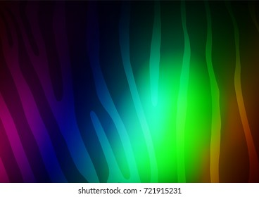 Dark Multicolor, Rainbow vector abstract doodle template. Blurred decorative design in Indian style with Zen tangles. The elegant pattern can be used as a part of a brand book.