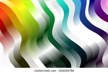 Dark Multicolor, Rainbow vector background with lava shapes. Colorful illustration in abstract marble style with gradient. Marble style for your business design.