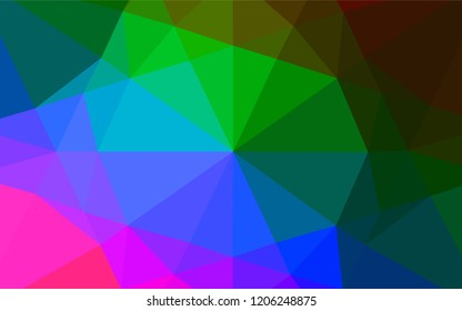 Dark Multicolor, Rainbow vector blurry hexagon texture. An elegant bright illustration with gradient. The completely new template can be used for your brand book.