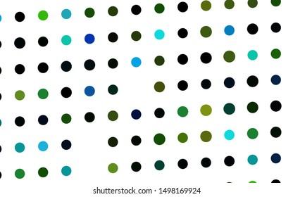 Dark Multicolor, Rainbow vector cover with spots. Modern abstract illustration with colorful water drops. Pattern of water, rain drops.