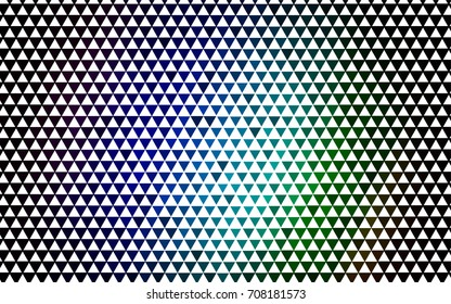 Dark Multicolor, Rainbow vector geometric simple minimalistic background, which consist of triangles on white background. Triangular pattern with gradient for your business design.