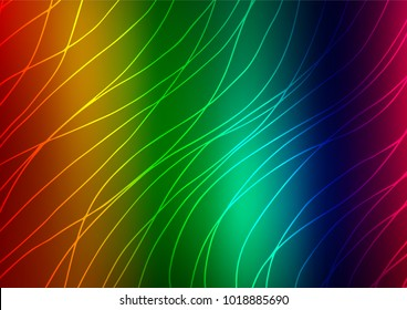 Dark Multicolor, Rainbow vector indian curved texture. Doodles on blurred abstract background with gradient. Hand painted design for web, wrapping, wallpaper.