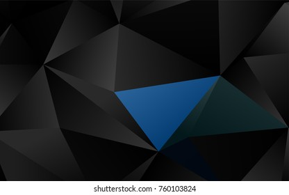 Dark Multicolor, Rainbow vector low poly background. A completely new color illustration in a vague style. The best triangular design for your business.