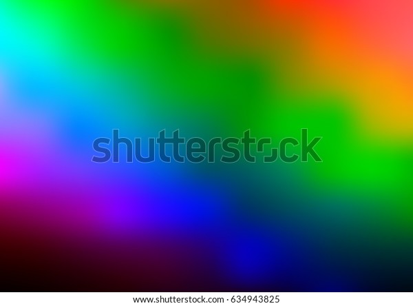 Dark Multicolor, Rainbow vector modern elegant template. Colorful abstract illustration with gradient. The template can be used as a background of a cell phone.