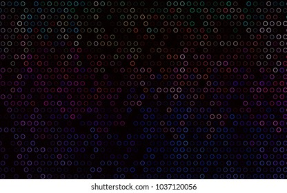 Dark Multicolor, Rainbow vector  pattern with spheres. Abstract illustration with colored bubbles in nature style. Pattern can be used as texture of water, rain drops.
