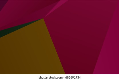 Dark Multicolor, Rainbow vector polygon abstract pattern. Creative geometric illustration in Origami style with gradient. The best triangular design for your business.