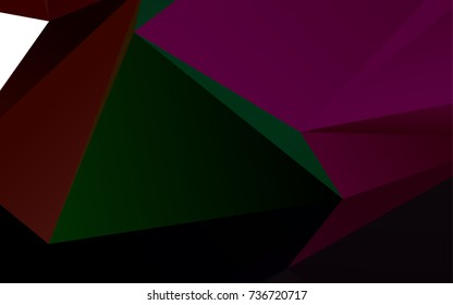 Dark Multicolor, Rainbow vector polygon abstract pattern. Creative geometric illustration in Origami style with gradient. The elegant pattern can be used as part of a brand book.