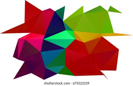 Dark Multicolor, Rainbow vector polygonal background. Modern geometrical abstract illustration with gradient. The elegant pattern can be used as part of a brand book.