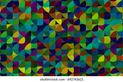 Dark Multicolor, Rainbow vector red pattern of geometric circles, shapes. Colorful mosaic banner. Geometric background with colored disks.