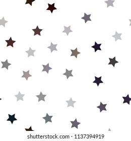 star seamless pattern black stars on stock vector royalty free