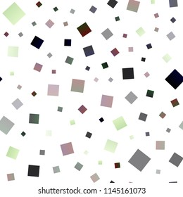 Dark Multicolor, Rainbow vector seamless template with crystals, rectangles. Beautiful illustration with rectangles and squares. The template can be used as a background.